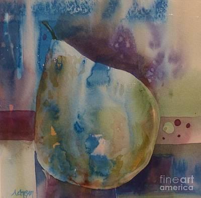 Painting - La Poire Qui Va Tomber  by Donna Acheson-Juillet