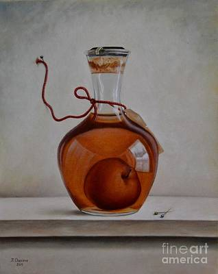 Calvados Painting - La Pomme Prisonniere by Nathalie Chavieve