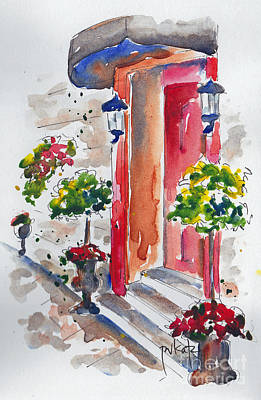 Quebec Cities Painting - La Porte Rouge - Vieux Quebec by Pat Katz