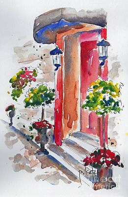 Quebec City Painting - La Porte Rouge - Vieux Quebec by Pat Katz