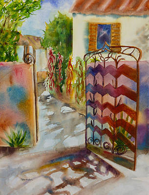 Featured Images Painting - La Posada In September by Melanie Harman