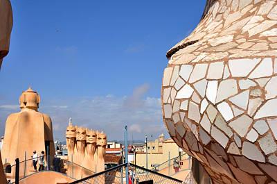 La Predrera Gaudi House Barcelona Art Print by Diane Lent