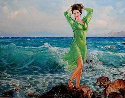 Painting - La Primavera - My Daughter by Sefedin Stafa