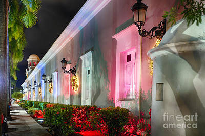 La Princesa Building At Night Art Print