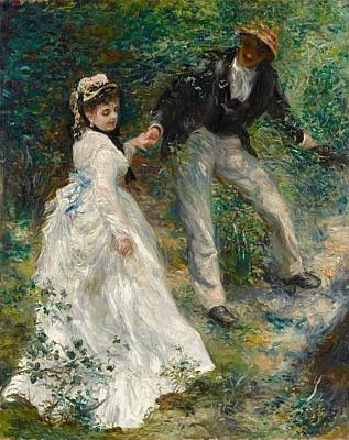 Getty Painting - La Promenade by Pierre-Auguste Renoir