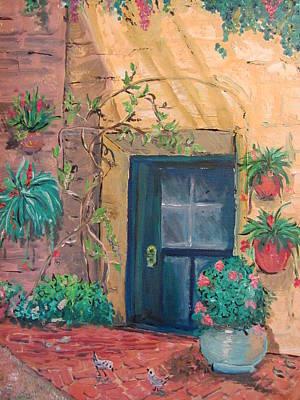 La Puerta Azul Art Print