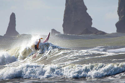 Model Released Photograph - La Push Pummel And Sea Stacks by Gary Luhm