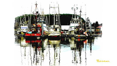 Photograph - La Push Wa Fishing Boats by Sadie Reneau