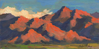 Light And Shadow Painting - La Quinta Mountains Morning by Diane McClary