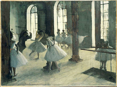 Ballet Painting - La Repetition Au Foyer De La Danse by Edgar Degas