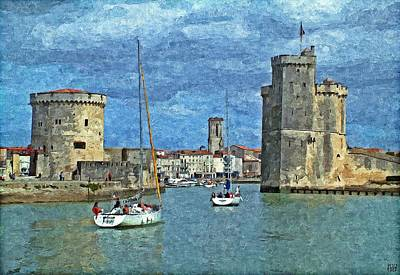Charente Maritime Painting - La Rochelle Charente-maritime France by Peter Ford