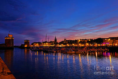 La Rochelle Night Print by Olivier Le Queinec