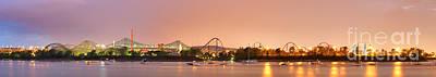 Photograph - La Ronde Amusement Park Ste-helene Island Montreal by Laurent Lucuix