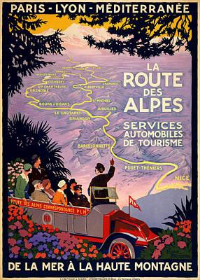 La Route Des Alpes Art Print