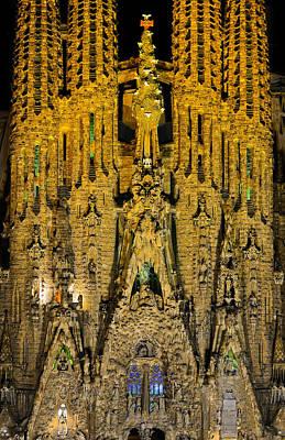 Photograph - La Sagrada Familia Facade II by Jack Daulton