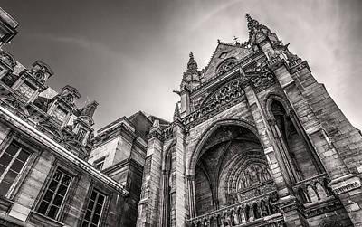 Paris Photograph - La Sainte-chapelle Version 2 by Tim Stanley