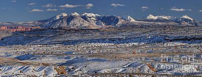 Photograph - La Sal Mountain Range by Adam Jewell