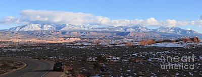 Photograph - La Sal Mountains Panorama by Adam Jewell