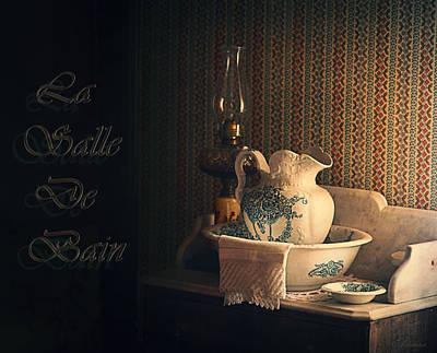 La Salle De Bain Art Print by Maria Angelica Maira