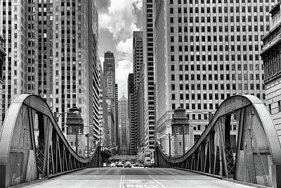Photograph - La Salle Street Bridge by Elena Kovalevich