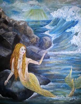 La Sarina Del Mar Art Print by Noor Moghrabi