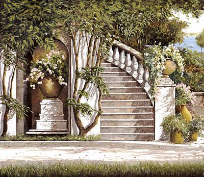 La Scalinata Art Print by Guido Borelli