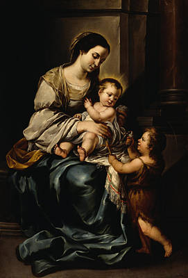 Baptist Painting - La Serrana Or, Madonna And Child by Bartolome Esteban Murillo