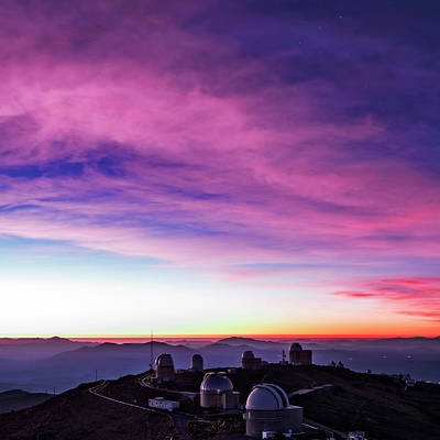 Chilean Photograph - La Silla Observatory At Dusk by Babak Tafreshi