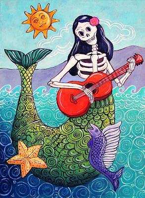 Calavera Painting - La Sirena by Candy Mayer