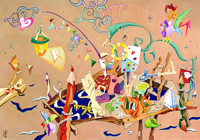 Dynamic Drawing - La Stanza Dei Giocattoli - Children Illustration Wallpaper by Arte Venezia