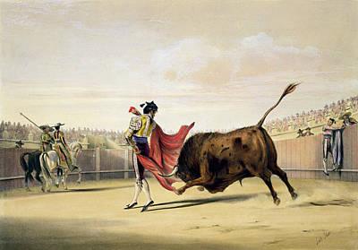 Spain Drawing - La Suerte De La Capa, 1865 by William Henry Lake Price