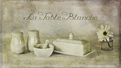 La Table Blanche - The White Table Art Print