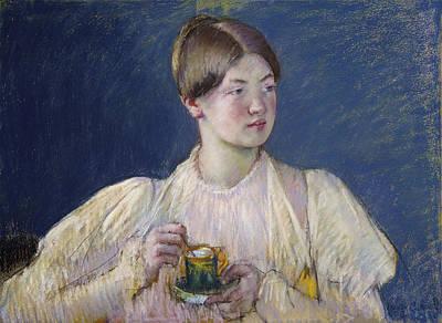 Tea Painting - La Tasse De The by Celestial Images