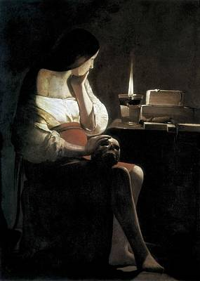 Mary Magdalene Photograph - La Tour, Georges De 1593-1652. Mary by Everett