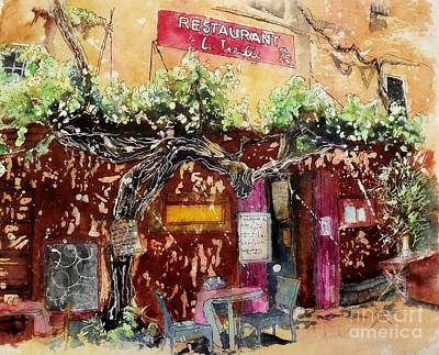 Painting - La Trelle by Carol Losinski Naylor