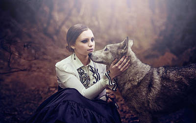 Wolves Photograph - La Vicomtesse by Aurore Brebel
