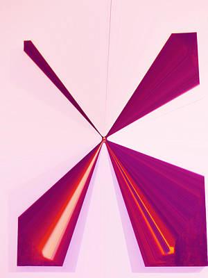 Visual Communication Digital Art - La Vie En Rose 14   3.23.14 by Rozita Fogelman