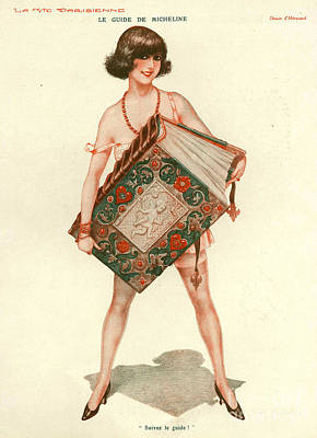 Nineteen-tens Drawing - La Vie Parisienne 1910s France Books by The Advertising Archives