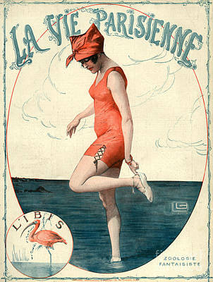Nineteen-tens Drawing - La Vie Parisienne 1910s France Georges by The Advertising Archives