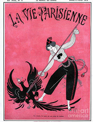 Nineteen-tens Drawing - La Vie Parisienne 1915 1910s France by The Advertising Archives