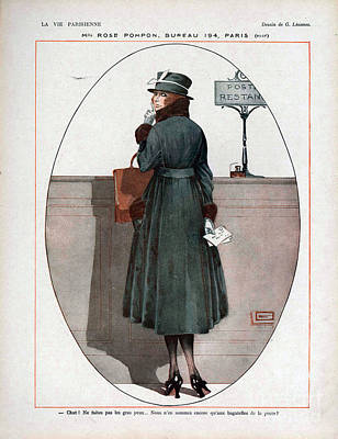 Nineteen-tens Drawing - La Vie Parisienne  1917 1910s France Cc by The Advertising Archives