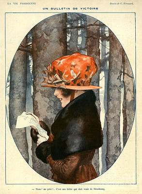 Nineteen-tens Drawing - La Vie Parisienne 1918 1910s France C by The Advertising Archives