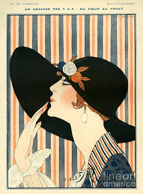 Nineteen-tens Drawing - La Vie Parisienne 1918 1910s France G by The Advertising Archives
