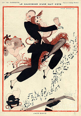 Racism Drawing - La Vie Parisienne 1919 1910s France G by The Advertising Archives