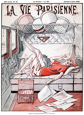 Cabin Interiors Drawing - La Vie Parisienne, 1922 by Granger