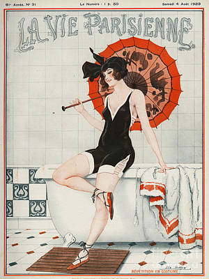 Drawing - La Vie Parisienne  1923 1920s France by The Advertising Archives