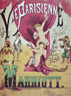Parisienne Painting - La Vie Parisienne Quadrille Poster by English School