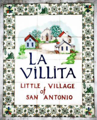 Digital Art - La Villita Tile Sign On The Riverwalk San Antonio Texas Diffuse Glow Digital Art by Shawn O'Brien