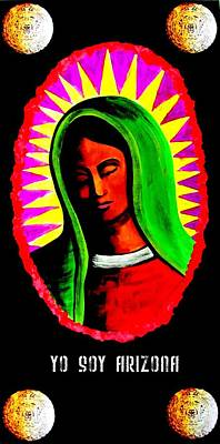 Painting - La Virgen 2012 by Michelle Dallocchio