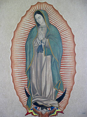 Virgen Mary Painting - La Virgen De Guadalupe by Lynet McDonald